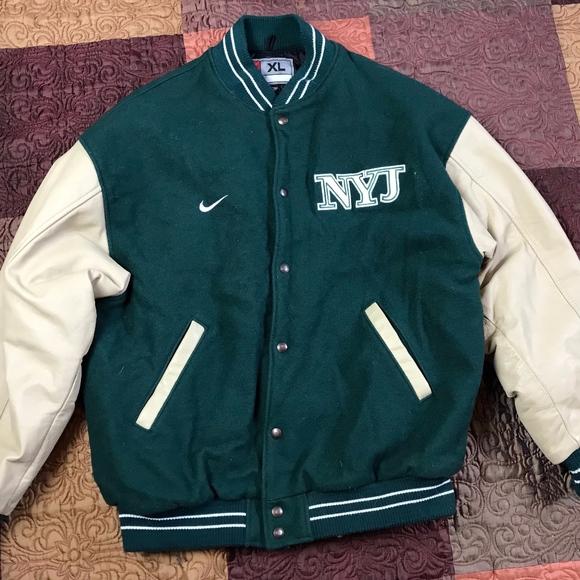 the best attitude 8a4e6 9297e Nike New York Jets Varsity Jacket Wool Leather XL